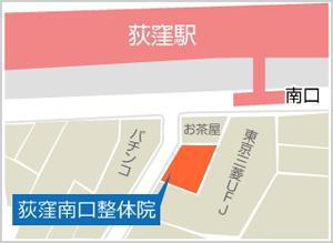 荻窪南口整体院MAP